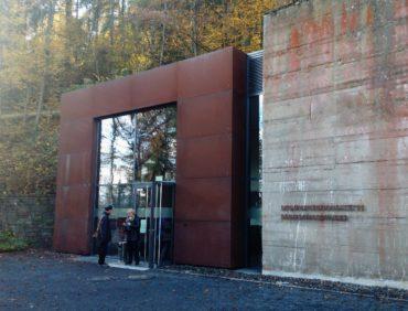 Der Eingang zum ehemaligen Regierungsbunker in Ahrweiler.