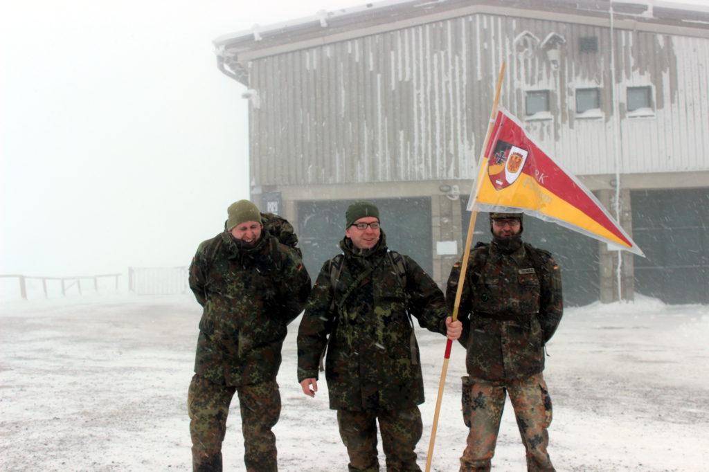 Reservisten der RK Potsdam auf dem Gipfel des Brocken
